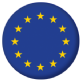 European Union Country Flag 25mm Flat Back